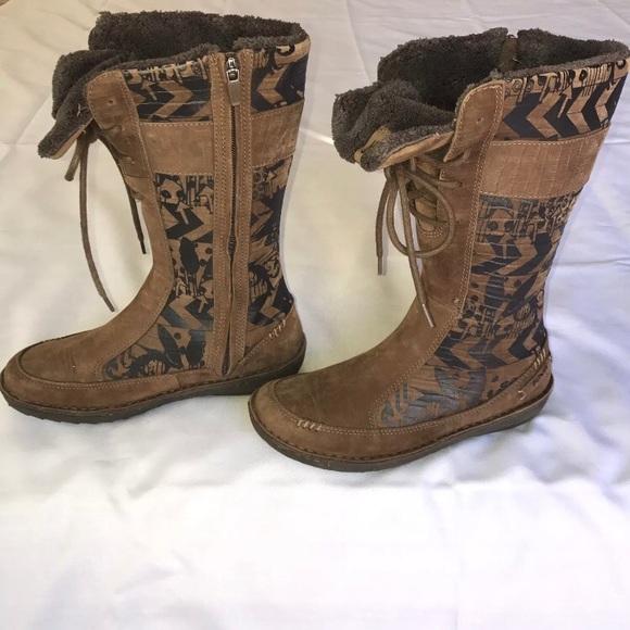 official factory outlets latest design TEVA WINTER BOOTS Brown 4058 6 Aztec Kiru Nubuck
